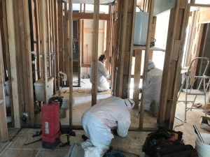Technicians Removing Mold From A Flooded Home